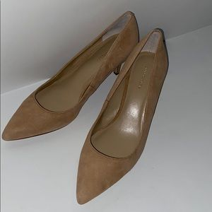Ann Taylor suede pumps with leather upper …